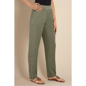 Soft Surroundings Shapely 100% Tencel Snap Pants